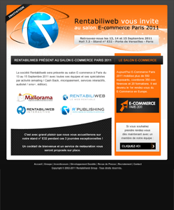 micropaiement newsletter : Rentabiliweb au salon E-commerce de Paris 2011
