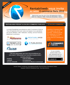 Solutions de micropaiement, newsletter : Rentabiliweb au salon E-commerce de Paris 2012